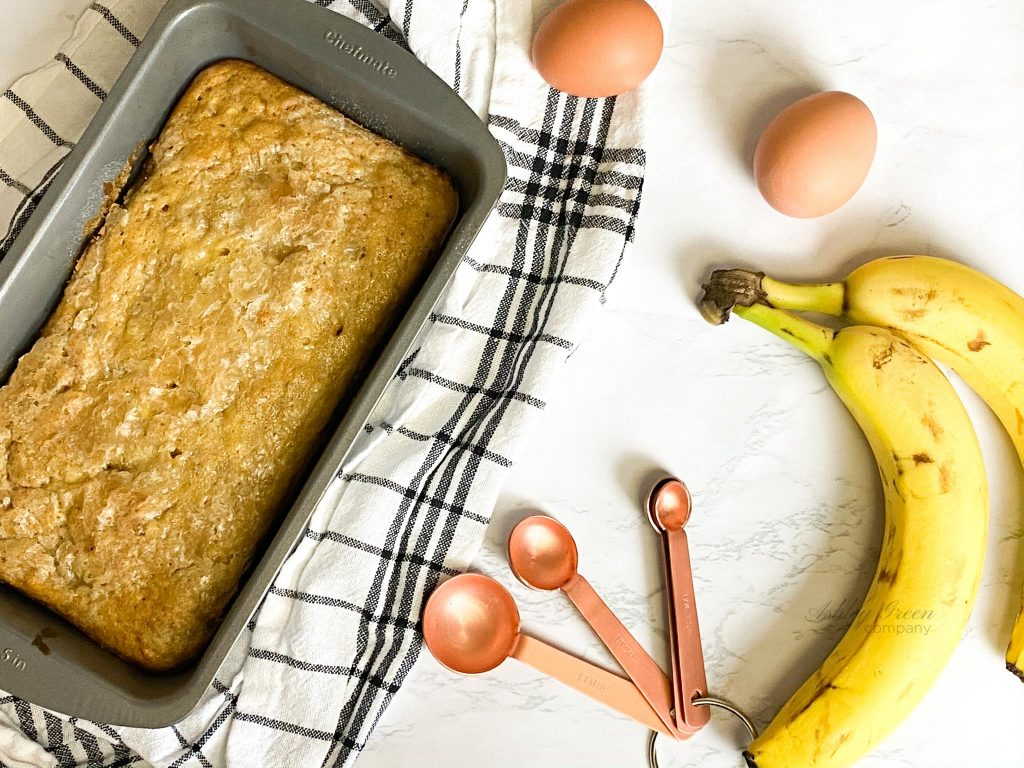 Banana bread was baked in Rae's Bakery by Ashley Rae. Work with me to create beautiful food photos and recipes like this one!