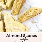 Vanilla Almond Scones with Vanilla Glaze