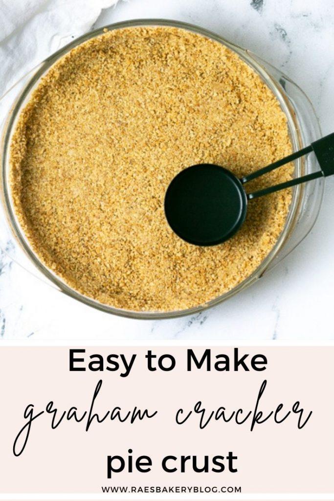 no bake graham cracker pie crust. Easy to make for any home baker