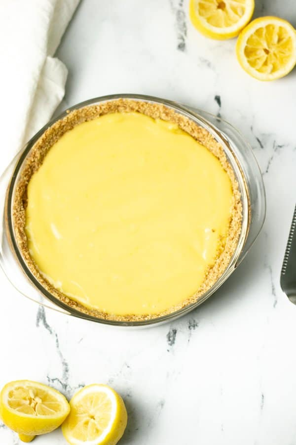 no bake lemon curd pie with graham cracker pie crust