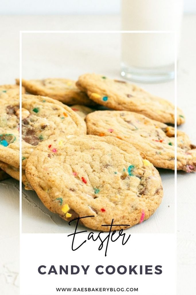 Colorful easter candy cookies
